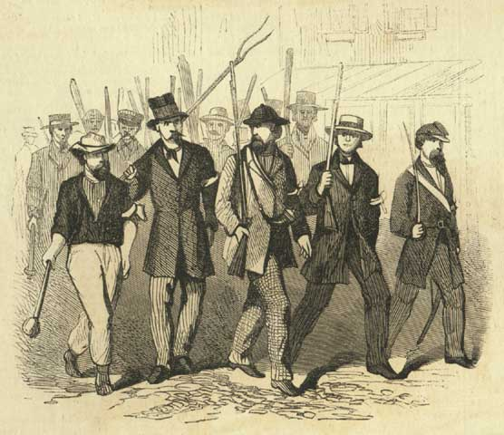 Draft Riots 1863 - Group of Rioters