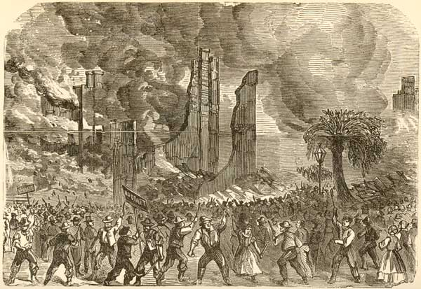 Draft Riots 1863 - Burning of the Provost Marshall's Office