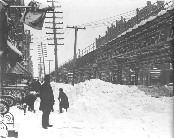 Blizzard of 1888 - Third Avenue