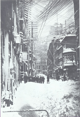 Blizzard of 1888 - New Street