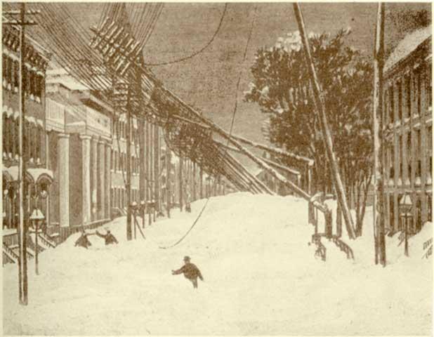 Blizzard 1888- Fallen Wires