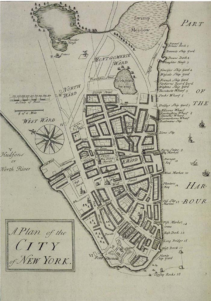 1730 Map of New York